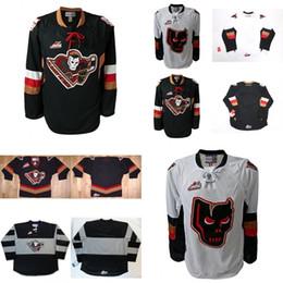 Wholesale Womens Ripped Shirts - Best quality Customize Mens Womens Kids WHL Calgary Hitmen Embroidered Hockey Jerseys Goalit Cut shirts Custom Any name NO. Jerseys