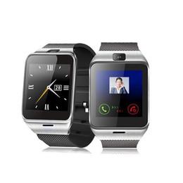 support intelligent compatible apple ios Promotion Les montres intelligentes GV18 prennent en charge l'appareil photo Bluetooth à carte SIM compatible NFC avec IOS et Android avec une boîte de vente au détail