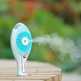 Wholesale Mini Fans Water - 2 in 1 Handheld Portable Mini Humidifier + Cooling Air Fan USB DC5V Office Air Diffuser Mist Maker H18589BL