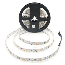 Wholesale Wholesale Decoration Different - 5M Roll Set Double Row 60leds 5050RGB+60leds 2835 White Warm White Non-waterproof Different Kinds of Colors White PCB