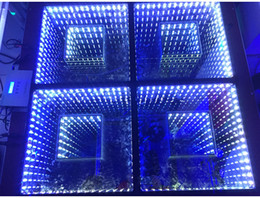 Wholesale New Mirror D Led Dance Floor Light with SD control Led Stage Effect Light Stage Floor Panel Lights Disco DJ Party Lights Wedding Decoration