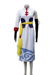 Malidaike Anime GINTAMA Kagura Kongfu Cheongsam Hosen Anzug Cosplay Kostüm Halloween 5ps von Fabrikanten