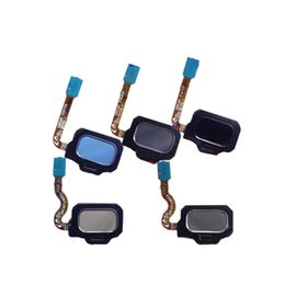 Wholesale Id Ribbon - For Samsung Galaxy S8 Flex Home G950F G950W G950V S8 plus G955W G955F Black Home Button Flex Home Button Touch ID Sensor Key Flex Ribbon