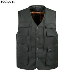 Wholesale High Quality Pocket Doors - Wholesale- 2016 Multi-pockets Out door Vest Multi Function Vest High Quality Casual Men's Waistcoat Vest Thickening Photography Jacket