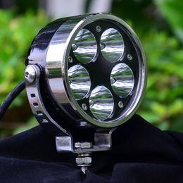 """Wholesale Lights For Motor Bikes - 3.6""""Black Motorcycle headlight Motor Bike Headlamp Spot Light for Harley Chopper Cruiser Cafe Racer(50W 12V)"""