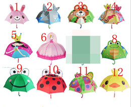 Wholesale Wholesale Umbrella Frames - 10 color High quality creative children umbrella stereo modelling cartoon animals Cute cartoon umbrella stereo modelling animals