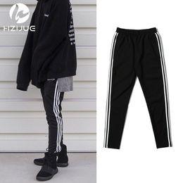 Wholesale Korean Hip Hop Clothes - Wholesale- streetwear 90S fashion korean men hip hop sweatpants mens urban clothing kanye west calabasas striped joggers