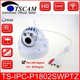 Wholesale Mini Ptz Dome Ip Camera - TSCAM new SP-P1802SWPTZ Full HD 1080P 2.0MP Wireless Wifi MINI PTZ Dome IP Camera TF Micro SD Card Slot ONVIF P2P