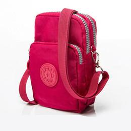 Wholesale Wrist Cell Phone Case - Universal Cell phone case Three-Layer Zipper Waterproof Shoulder Bag wrist sport bag For iPhone 7 6 6s Plus 6s Plus case DHL free GSZ291