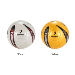 Wholesale Inflatable Football Games - Size 5Tpu Soccer Ball Inflatable Football Ball Soft Touch Weatherproof Durable Soccer For Game Match Training 2Colors