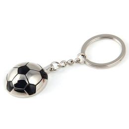 Wholesale Classic Cars Souvenir Gift - Creative Sports Metal Soccer Football Keychains Keyring - Fashion Trinket Novelty Key Holder Souvenir Gifts Key Chain Ring