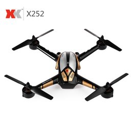 Wholesale Helicopter 7ch Radio - New XK X252 RC Drone 5.8G FPV With 720P HD Camera Brushless Motor LED Lights 7CH 3D 6G RC Quadcopter RC Helicopter Dron