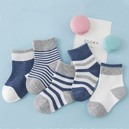 Wholesale Tube Socks For Kids - Baby Socks Kids For Girls Newborn Winter Cotton Striped Tube Warm Socks Boys Tiny Cottons Chaussettes Children Clothing 94A0016