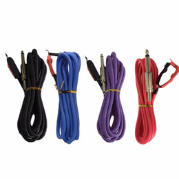 Wholesale high quality tattoo power supply - Wholesale-High Quality Professional 2.4M Silicone Copper Wire Tattoo Power Supply Clip Cord Cable Tattoo Power Accessories top quality