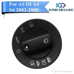 Wholesale Headlight Switch Knob - Brand New Fog Light Knob Control Headlight Switch For AUDI A4 Quattro S4 2002-2008 8E0941531B Car Accessory #W004