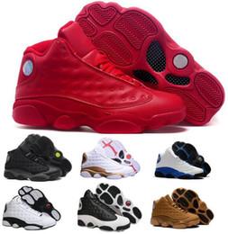 Wholesale Stretch Lace China - Top Retro 13 Basketball Shoes Dmp Men Women Black Cat Air Retros 13s Xiii Low Men's Women's Sport Femme China Sneakers Shoes Sale