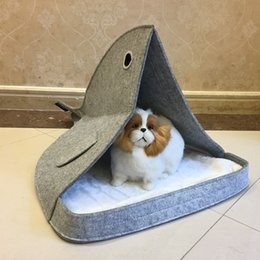 Wholesale Wholesale Pet Houses - Dog House Nest With Mat Foldable Pet Dog Bed Cat Bed House For Small Medium Dogs Travel Pet Bed Bag Product