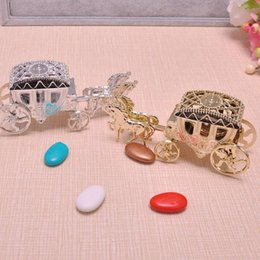 Wholesale Cinderella Carriage Favors - Horse shape Cinderella Carriage Wedding Favor Boxes Candy Box Casamento Wedding Favors And Gifts Decoration ZA1876