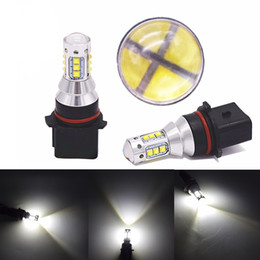 Wholesale Headlight Daylight - auto P13W SH23W PSX26W 3156 80W with cree 16 SMD LED Chip LED Auto Front Fog Lamp daylight Car DRL Driving headLight
