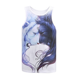 Wholesale Casual Sleeveless Tees For Men - Wholesale- Summer vest for men Mr.1991INC new arrival animal lion printed 3D tank top men's sleeveless casual tees fashion tank tops