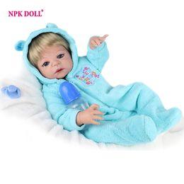 Wholesale Silicone Dolls For Sale - doll house toy NPKDOLL 55cm Soft Silicone Lifelike Dolls 22inch Full Vinyl Reborn Dolls For Sale Boneca Reborn Child Girls Toys
