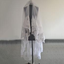 Nuptiale Longue Dentelle Cathédrale Voiles De Mariage 1.5 m Mètre Accessoires Blanc Ivoire Voile Mariage Mantilla Musulman Vail Velos De Novia ? partir de fabricateur