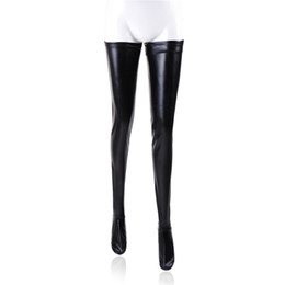 Wholesale Sex Clothing For Women - BDSM Female Restraints Clothing for Sex PVC Bondage Thight Stockings for Women for Adults Play Games