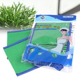Wholesale Korea Glove Wholesale - Wholesale-Korea Tape Back Brush Scrub Gloves Exfoliating Body Towel Massage Shower Scrubber Exfoliating Sponge Wash Bath Gloves