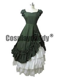 Vestiti di vestiario vittoriano online-Southern Belle Victorian Ball Gown Dress Costume di Halloween Reenactment Abbigliamento