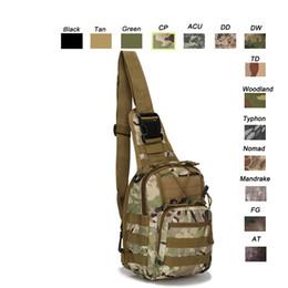 Wholesale Sling Rucksack - Oudoor Sports Waterproof Tactical Pack   Rucksack   Knapsack   Assault Combat Camouflage Versipack Tactical Molle Sling Bag NO11-100