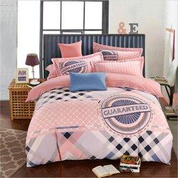 Wholesale Cheap Cartoon Bedding - 2016 Fall Winter 4Pcs Bedding Sets for Queen Bedding duvet cover floral comforter Cheap Cartoon Winceyette Bedding Supplies