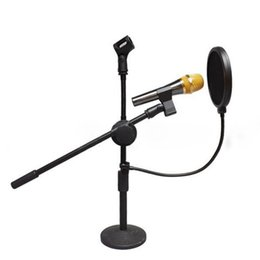 Wholesale Wholesale Mic Pop Filters - Double Layer Studio Microphone Mic Wind Screen Pop Filter  Swivel Mount   Mask Shied For Speaking Recording