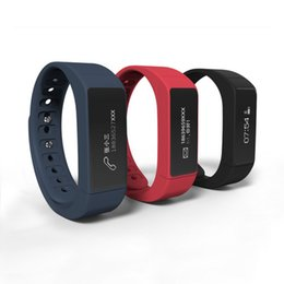 Wholesale I5 Phone Watch - 2017 New Brand i5 plus Wristbands Smart Watch OLED anti lost pedometer sleep monitor reminder bluetooth bracelet for Android iOS