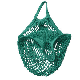 Wholesale String Net Bag - Reusable String Shopping Grocery Bag Shopper Tote Mesh Net Woven Cotton Bag