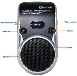 altavoces con energía solar Rebajas Al por mayor-envío gratis Solar Powered Bluetooth Car Kit manos libres Bluetooth Altavoz en el coche manos libres llamadas para iPhone 7 7s I35