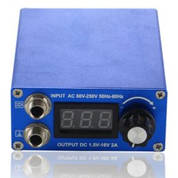 Wholesale Free Power Motor - Wholesale-Hot Sale Professional Blue Tattoo Power Supply TP-168C For Tattoo Machine Motor Gun Supply Free Shipping