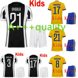 Wholesale Best Youth Jerseys - Best 3A 17 18 kids home away Soccer jersey 2017 2018 MARCHISIO DYBALA HIGUAIN BONUCCI boys youth children Football uniform Maglia camisa