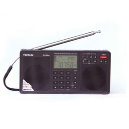 Wholesale mp3 player band - Wholesale-Tecsun PL-398MP 2.2'' Full Band Digital Tuning Stereo Radio Receiver MP3 Player - Black