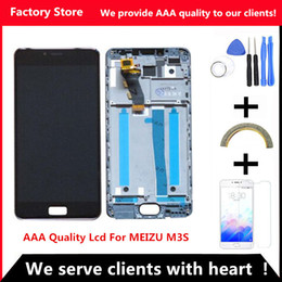 Wholesale Iphone 3s Screen - Wholesale- QYQYJOY AAA Quality LCD For MEIZU M3S Lcd Display With Original Frame Screen Replacement For MEILAN 3S Digiziter Aseembly