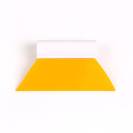 Wholesale Tint Film For Car Windows - DHL Free Shipping 10pcs Yellow Turbo Angle Squeegee Window Tint Tool Cut Squeegee Rubber Scraper For Car Film Sticker Wrapping TM-45