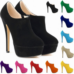 Wholesale Ladies Leather Boots Size 11 - Sapato Feminino New Brand High Heels Dress Party Women Shoes Ladies Womens Pumps Us Size 4 5 6 7 8 9 10 11 D0039