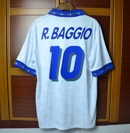 Wholesale Italy World Cup Jerseys - Retro jersey 1994 94 world cup italy BAGGIO blue shirt Jerseys