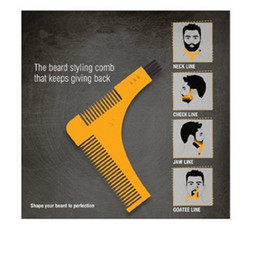 Wholesale Hair Template - New Groomarang Beard Symmetry Styling Shaping Template Comb Trimming Facial Hair Beard Modelling Tools With Retail Pack DHL Free