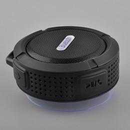 Водонепроницаемый бумбокс онлайн-NEW Bluetooth Мини Портативный беспроводной динамик USB C6 Душ водонепроницаемый звуковой ящик громкоговорителя Boombox Сабвуфер для ноутбуков / PC / MP3 / MP4