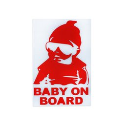 Wholesale Baby Board Sticker Car - Fashion Lovely Kids Baby on Board Carlos Hangover funny Reflective Waterproof car vinyl sticker decal adhesive sticker