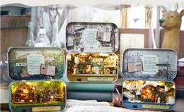 2019 große plastikpuppen Puppenhaus Miniatur Box Theater Idee Geschenk Box Theater Handmade Thema Kreative DIY Niedlichen Raum Kunsthandwerk Geschenke für Mädchen Geburtstag