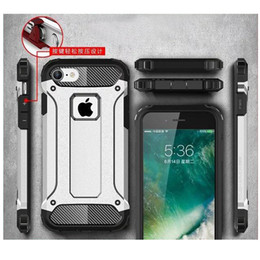 Wholesale Protect Dust - King Armor Hybrid Case For iPhone X 7 8 Plus & Dust Plug EarCap Soft TPU & Hard PC Dual Layer Dustproof Shockproof Protect Phone Cover DHL