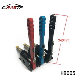 Wholesale Universal Handbrake - RASTP -Universal Short Handle Vertical Drifting Hydraulic Handbrake for Motorsport Competition Applications Black Red Blue RS-HB005
