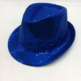 Wholesale Children Stage Shows - Sequins Party Hat Caps Stage Dance Prop Hats Christmas Decoration Gift Children Kid Cap Sequin Ball Unisex for Travel Sports Birthday Show