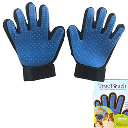 Wholesale Dog Mitts - Pet Grooming Glove Brush Mitt Shedding Glove Tool Pet Hair Remover Massage Gloves Bathing Comb Dogs Cats Horses Bunnies right left hand